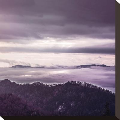 Hills - Square-Lebens Art-Stretched Canvas Print