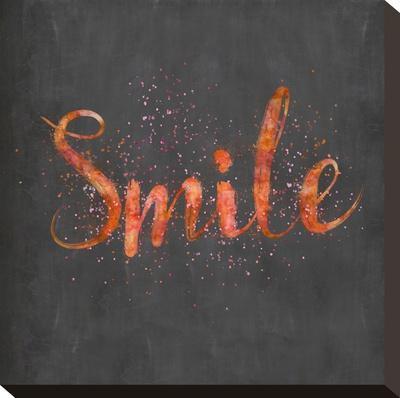 Smile - Square-Lebens Art-Stretched Canvas Print