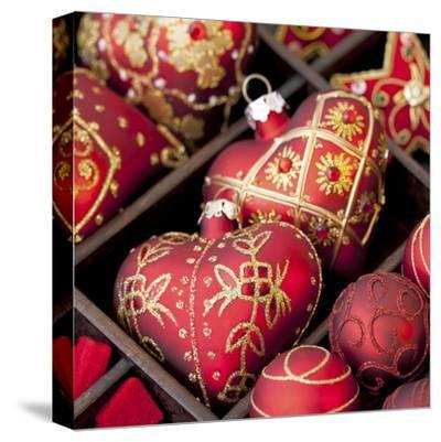 Red Christmas - Square-Lebens Art-Stretched Canvas Print