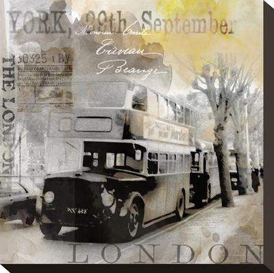 Vintage Britain - Square-Lebens Art-Stretched Canvas Print