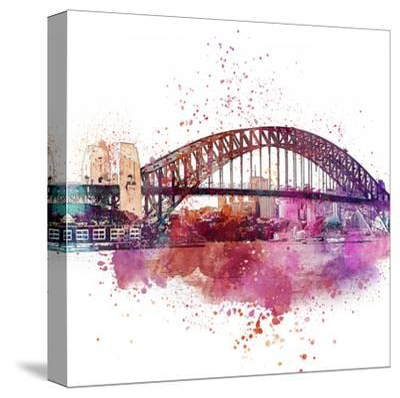 Sydney Harbor Bridge 4 - Square-Lebens Art-Stretched Canvas Print