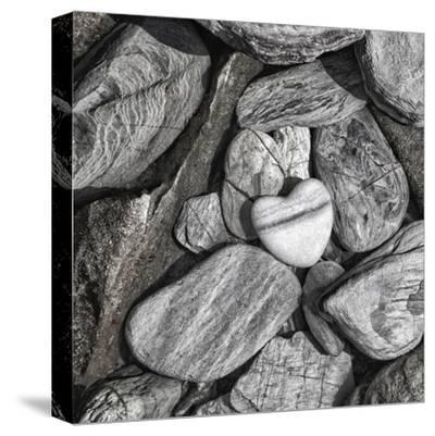 Stone Heart 2 - Square-Lebens Art-Stretched Canvas Print