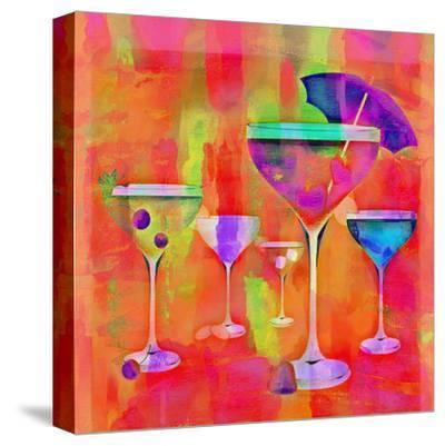 Summer Drinks Colorful - Square-Lebens Art-Stretched Canvas Print