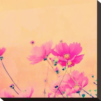 Summer Flower 2 - Square-Lebens Art-Stretched Canvas Print