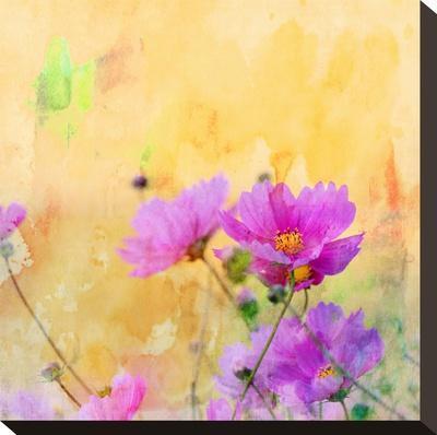 Summer Flower 3 - Square-Lebens Art-Stretched Canvas Print