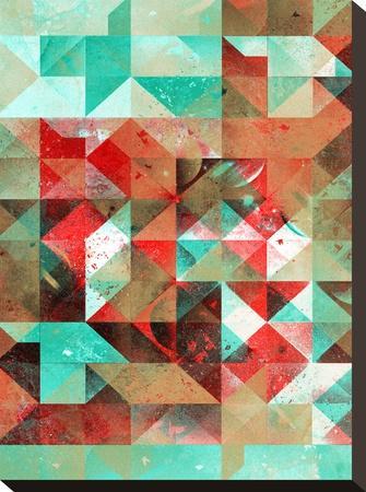 Ryht Lyht Ryso Rymyx-Spires-Stretched Canvas Print