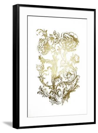 Gold Foil Flora & Filigree-Naomi McCavitt-Framed Art Print