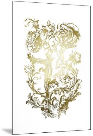 Gold Foil Flora & Filigree-Naomi McCavitt-Mounted Art Print