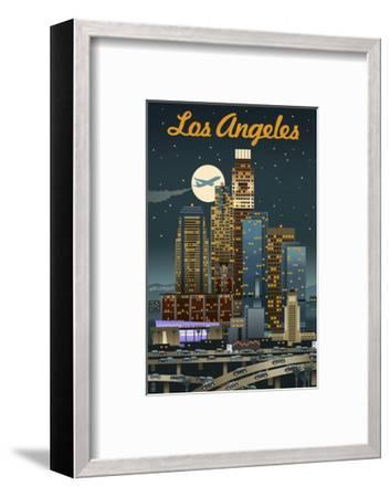 Los Angeles-Lantern Press-Framed Art Print