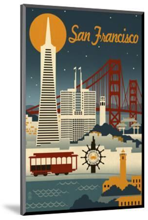 San Francisco-Lantern Press-Mounted Art Print