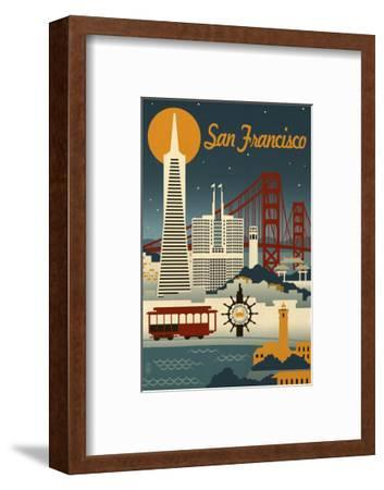 San Francisco-Lantern Press-Framed Art Print