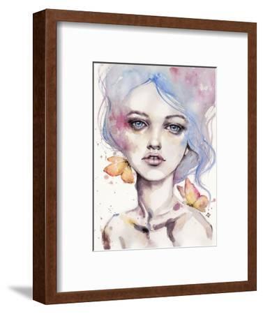With Elegance (female portrait)-Sillier than Sally-Framed Art Print