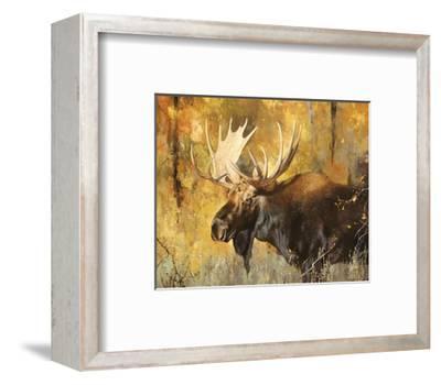 Autumn Moose Study #1-Mark Kelso-Framed Art Print