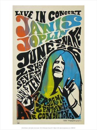 Janis Joplin concert poster, 1970-Unknown-Framed Art Print