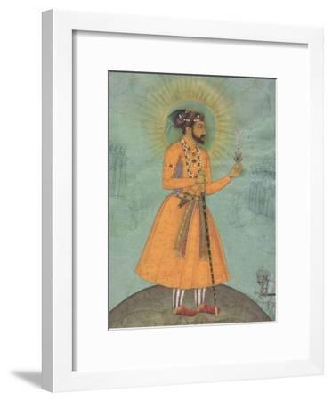 Jujhar Singh Bundela Kneels in Submission to Shah Jahan', 1630-Bichitr Bichitr-Framed Art Print