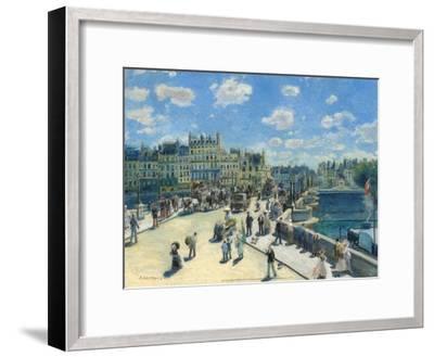 Pont-Neuf, 1872-Pierre-Auguste Renoir-Framed Art Print