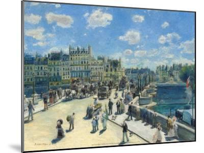 Pont-Neuf, 1872-Pierre-Auguste Renoir-Mounted Art Print