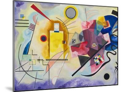 Yellow-Red-Blue, 1925-Wassily Kandinsky-Mounted Art Print