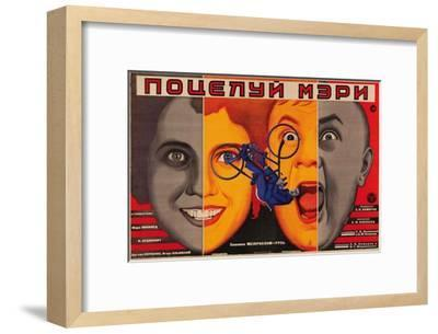 A Kiss from Mary Pickford, 1927-Unknown-Framed Art Print