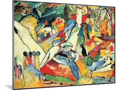 Composition II Sketch, 1910-Wassily Kandinsky-Mounted Art Print
