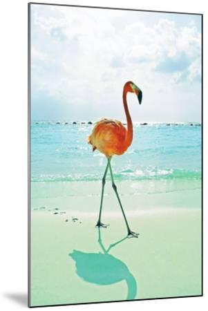 Flamingo on the Beach-Tai Prints-Mounted Art Print