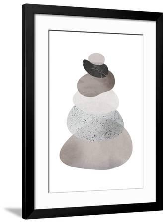Scandi Stones II-Clara Wells-Framed Giclee Print