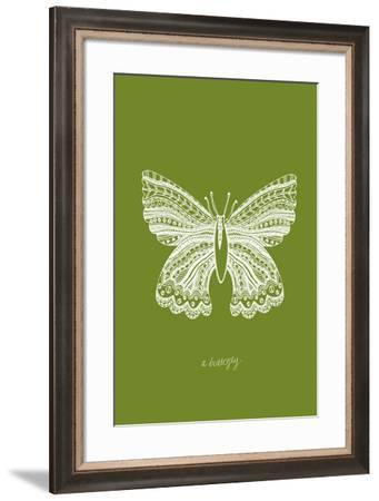 Simple Nature - Butterfly-Clara Wells-Framed Giclee Print