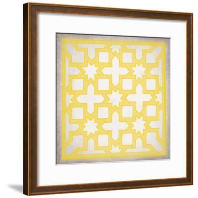 Ancient Geometry III-Maria Mendez-Framed Giclee Print