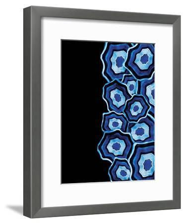 Half Of Blue Agates-Jace Grey-Framed Art Print