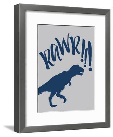 RAWR-Jace Grey-Framed Art Print