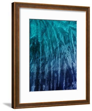 Coastal Ray-Jace Grey-Framed Art Print