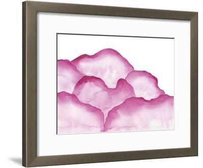 Crimson Mountains 1-Pam Varacek-Framed Art Print