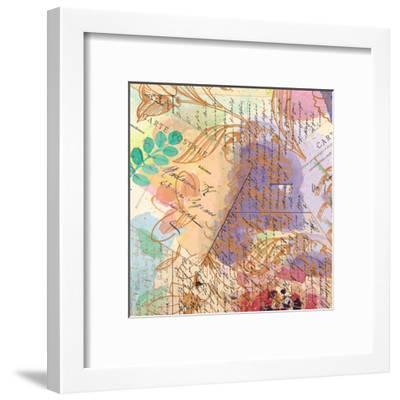 Postage Rose 3-Kimberly Allen-Framed Art Print