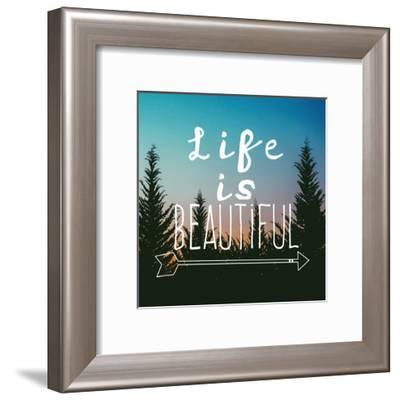 Insta Life Is Beautiful-Jelena Matic-Framed Art Print