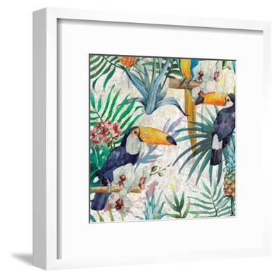 Tropical Life 1-Kimberly Allen-Framed Art Print
