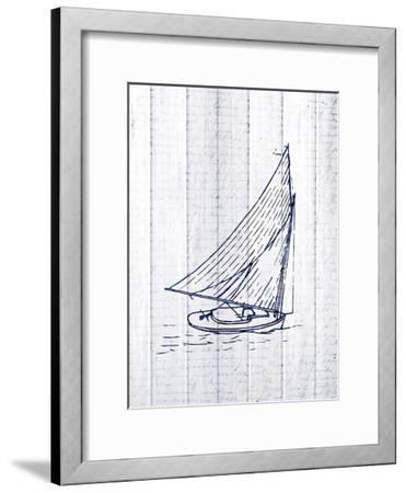Seaside Wood 3-Kimberly Allen-Framed Art Print