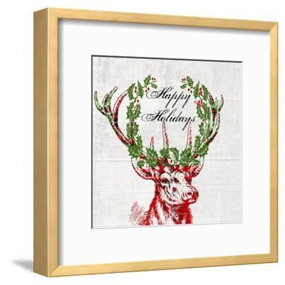 Hello Deer 3-Sheldon Lewis-Framed Art Print