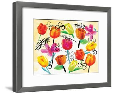 Full Floral Ink-OnRei-Framed Art Print
