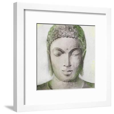 Peaceful Buddha Green-Unknown Unknown-Framed Art Print