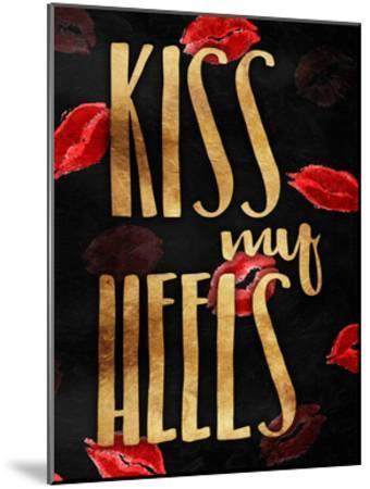 Kiss My Gold Heels-OnRei-Mounted Art Print