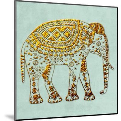 Dusty Aqua Elephant-Sheldon Lewis-Mounted Art Print
