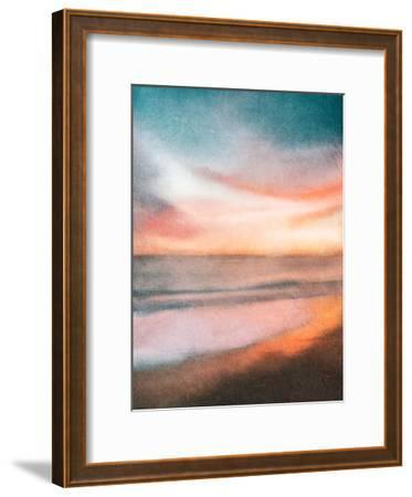 Sunset at the Beach-Kimberly Allen-Framed Art Print