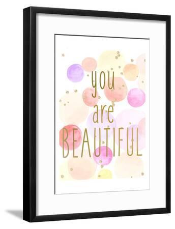 You Are Beautiful Color-Kimberly Allen-Framed Art Print