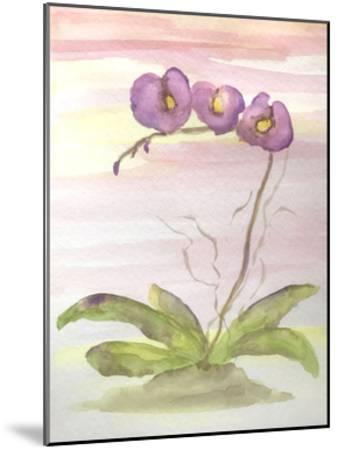 Orchid Trio 2-Debbie Pearson-Mounted Art Print