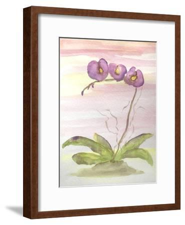 Orchid Trio 2-Debbie Pearson-Framed Art Print