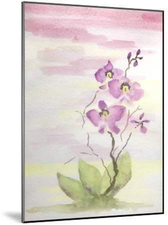 Orchid Trio 3-Debbie Pearson-Mounted Art Print