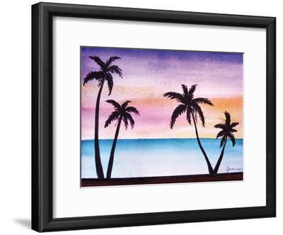 Tropical Palms 2-Debbie Pearson-Framed Art Print