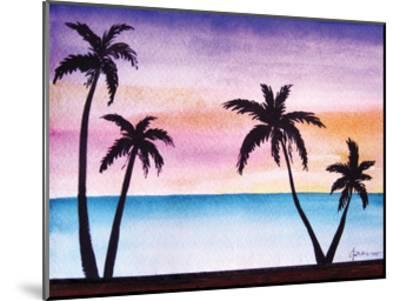 Tropical Palms 2-Debbie Pearson-Mounted Art Print