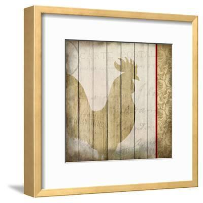 Damask Rooster 2-Kimberly Allen-Framed Art Print