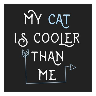 Cooler Cat-Jelena Matic-Framed Art Print